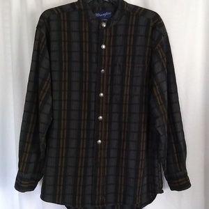 Men's Vintage Wrangler Western Button Down Shirt